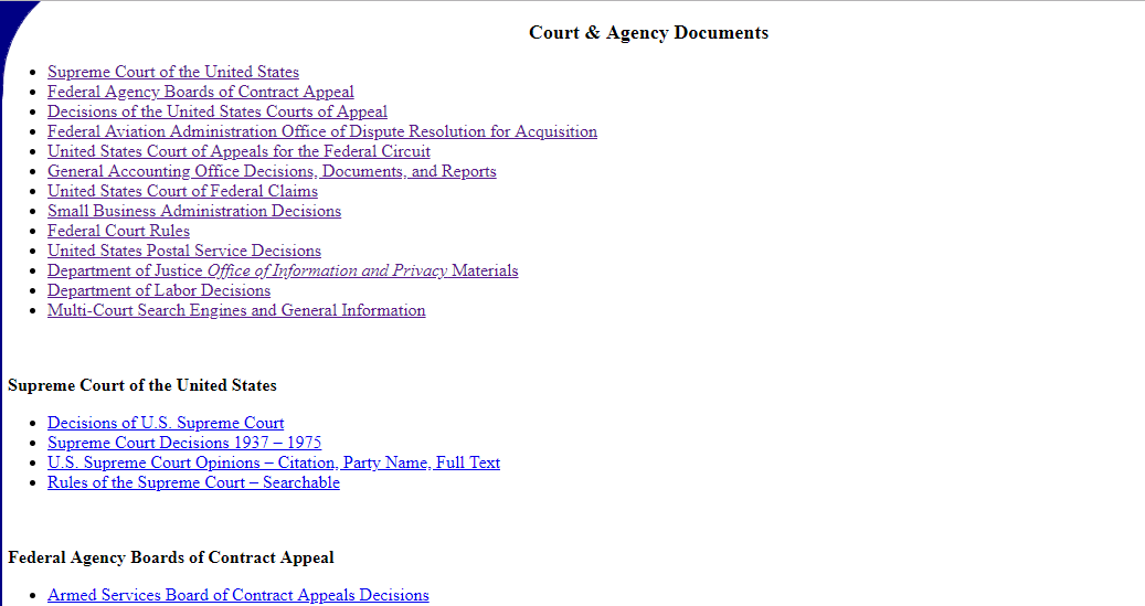 Court & Agency Resources